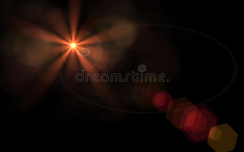 Whit van de aarbal gloed van de strook de digitale rode lens vector illustratie