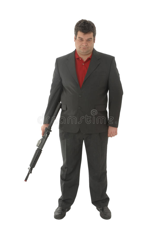 Whit van de gangster het 4-geweer van A.M. royalty-vrije stock afbeeldingen