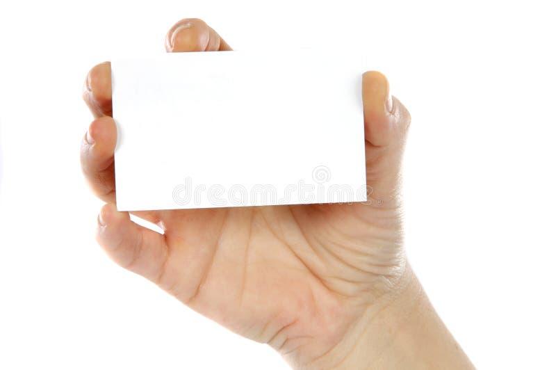 Whit van de hand een kaart royalty-vrije stock foto