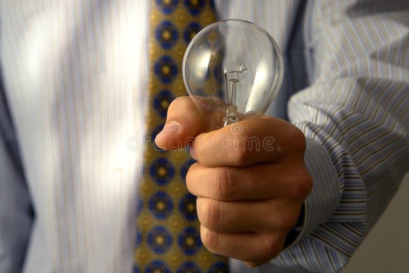 Whit van de zakenman een idee stock fotografie