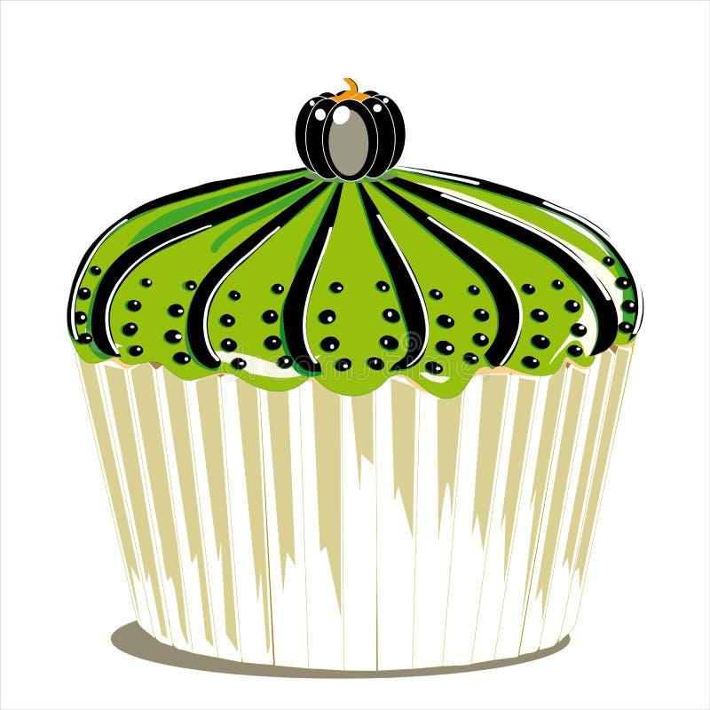 Whit van Halloween cupcake pompoen stock illustratie