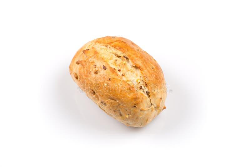 Whit van het broodjesbroodje sesam stock fotografie
