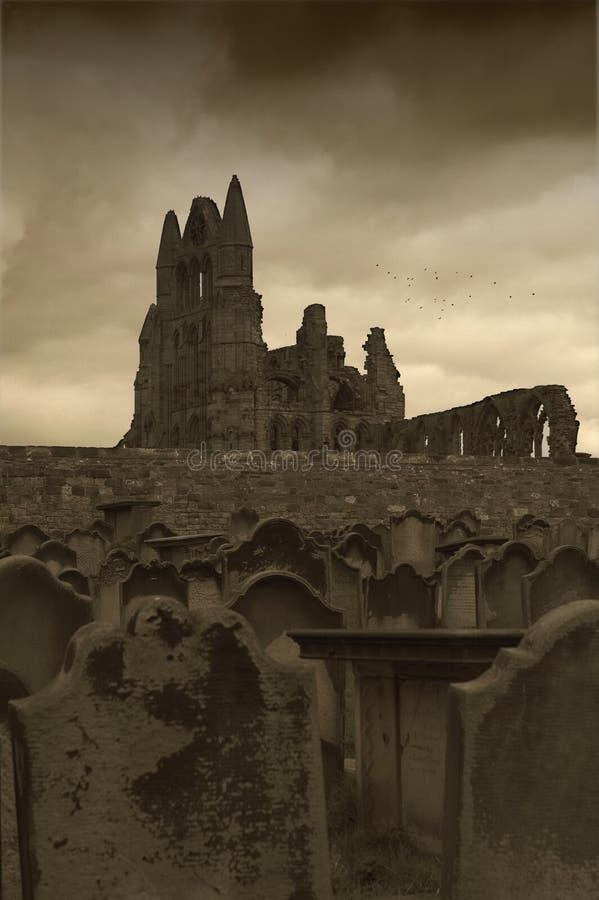 whitby的修道院 免版税图库摄影