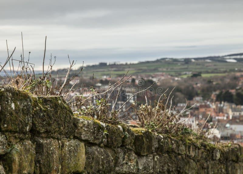 Whitby, Γιορκσάιρ, Αγγλία - ένας φράκτης/ένας τοίχος πετρών στοκ εικόνα με δικαίωμα ελεύθερης χρήσης