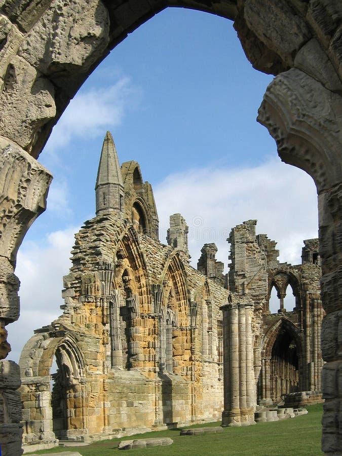 whitby abbey royaltyfria foton