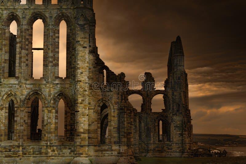 Whitby Abbey fotografia stock libera da diritti