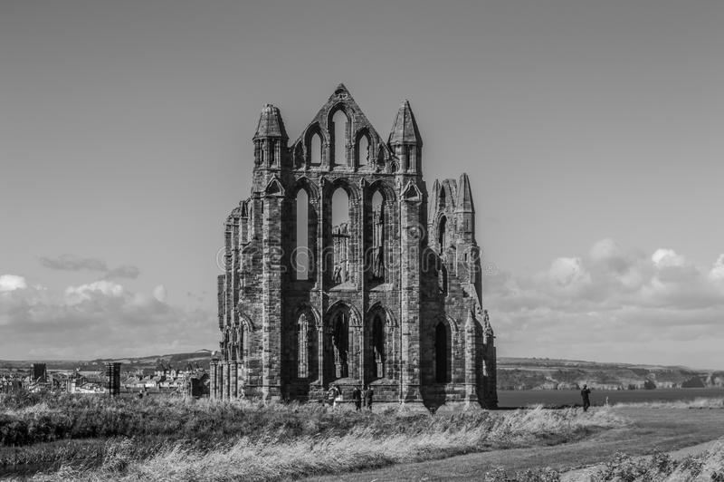Whitby Abbey North Yorkshire, UK royaltyfria bilder