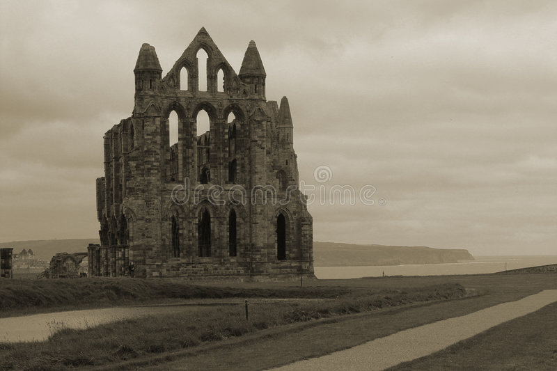 Download Whitby Abbey Overlooking Bay Stock Image - Image: 964107