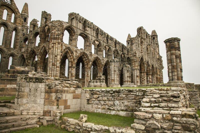 Whitby Abby, Yorkshire - as ruínas fotos de stock royalty free