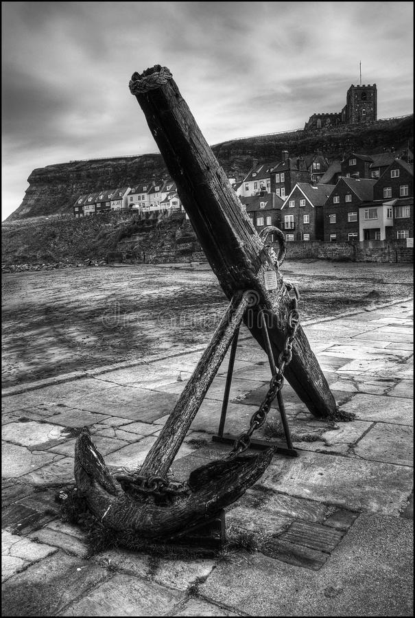 Whitby anchor stock image