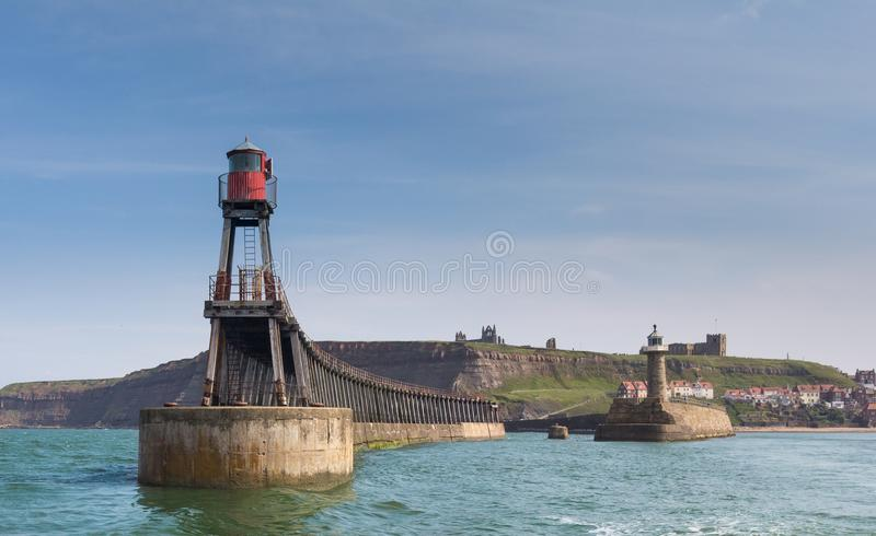 Whitby East Pier image stock