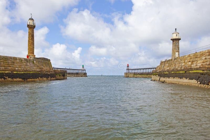 Whitby fjärdhamn arkivbild