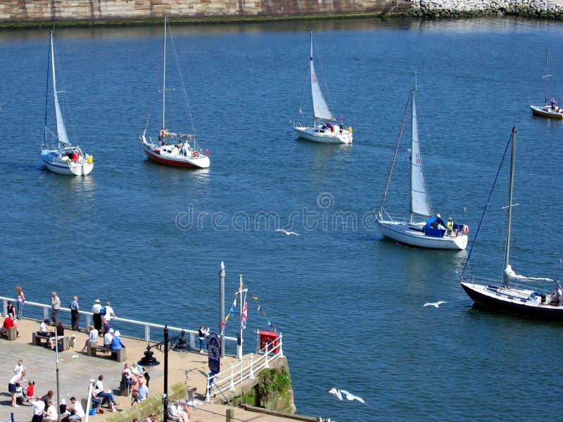 Whitby Hafen Lizenzfreies Stockfoto
