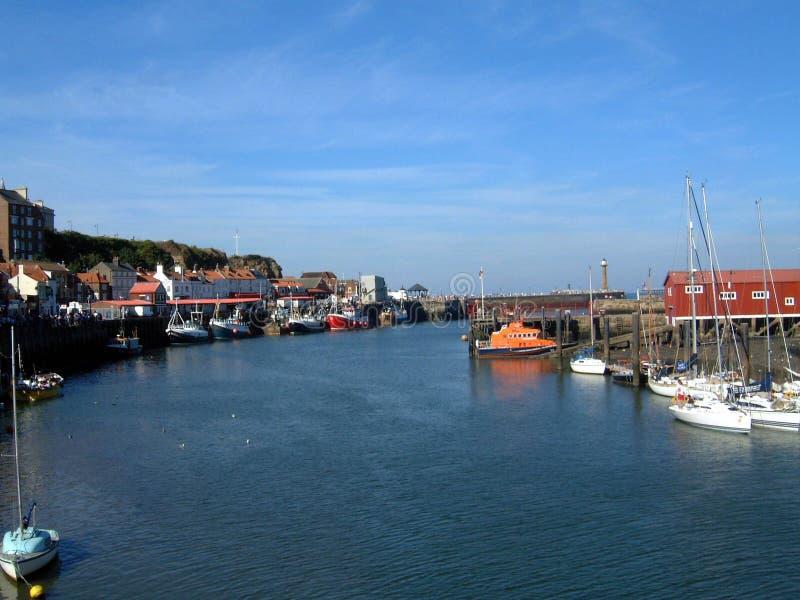 whitby hamn fotografering för bildbyråer