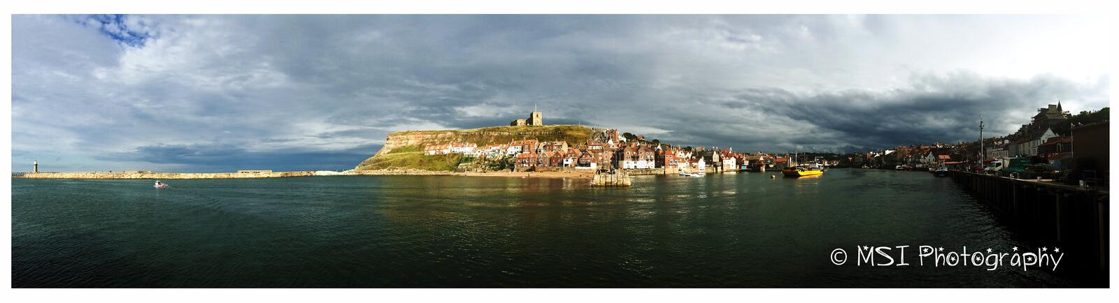 Whitby, north Yorkshire. Whitby, on the river Esk. north Yorkshire royalty free stock photo