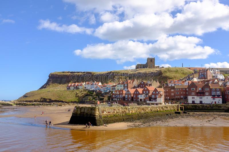 Whitby Old Town fotografie stock