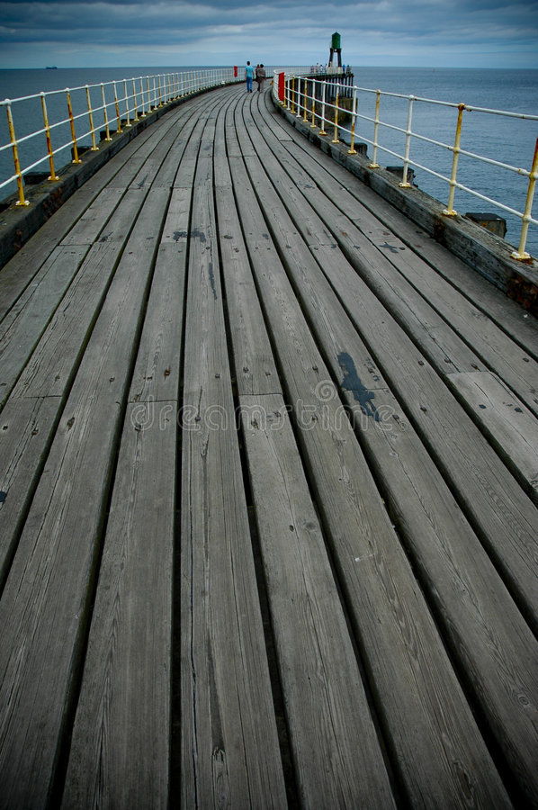Whitby Pier royalty free stock photography