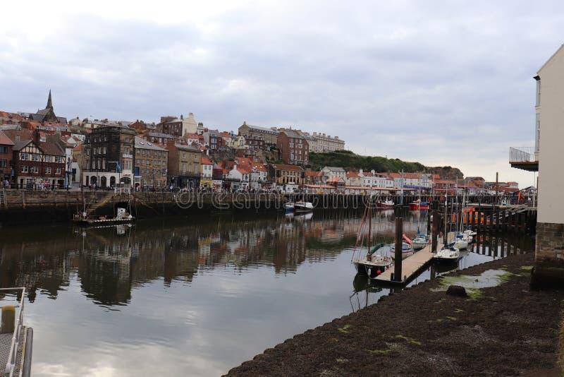 Whitby- port, miasto w ANGLIA obrazy stock