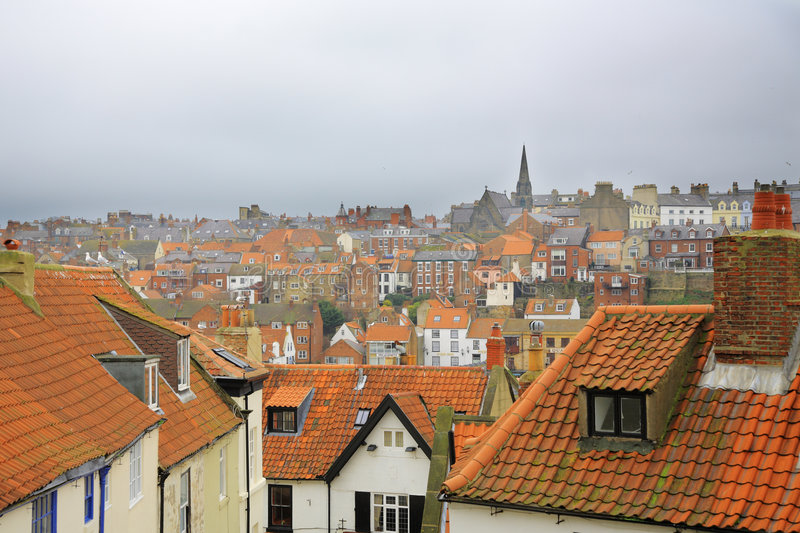 Whitby Rooftops stock photography