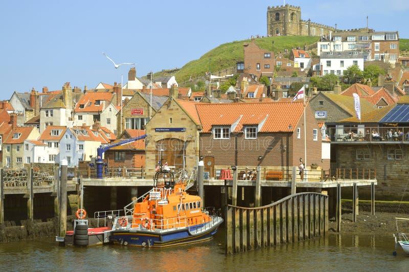 Whitby schronienia lifeboat obraz royalty free