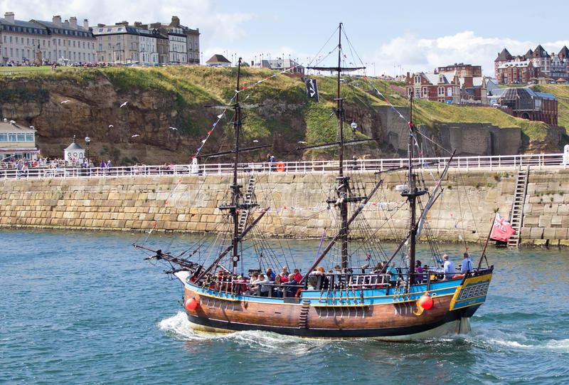 Whitby tourist boat tour royalty free stock photos