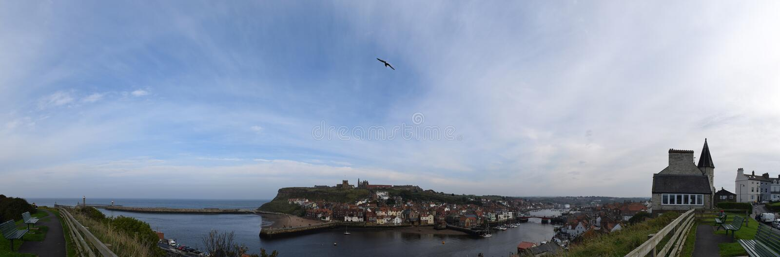 Whitby Town et abbaye, North Yorkshire, R-U photo stock