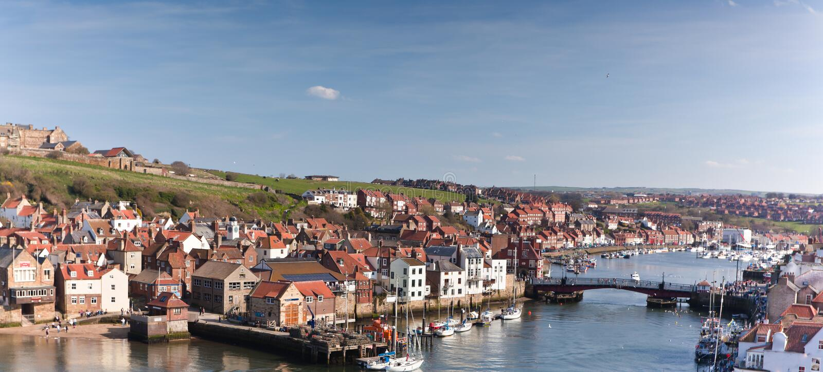 Whitby Town and Harbor royalty free stock photo