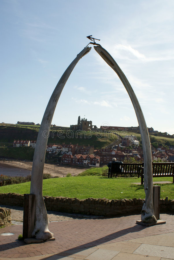 Free Whitby - Whale Jawbone Stock Image - 6917561