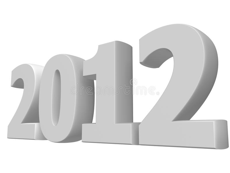 Download White 3D 2012 text stock illustration. Illustration of greeting - 20104466