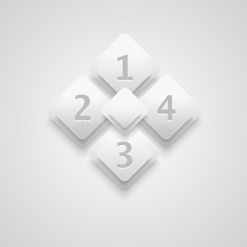Download White 3D infographic stock vector. Image of abstract - 27719047