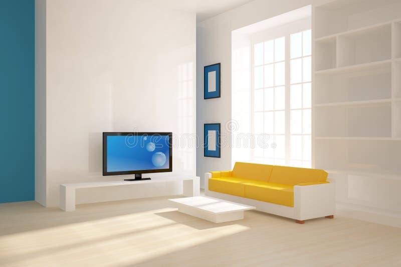 White 3d interior vector illustration