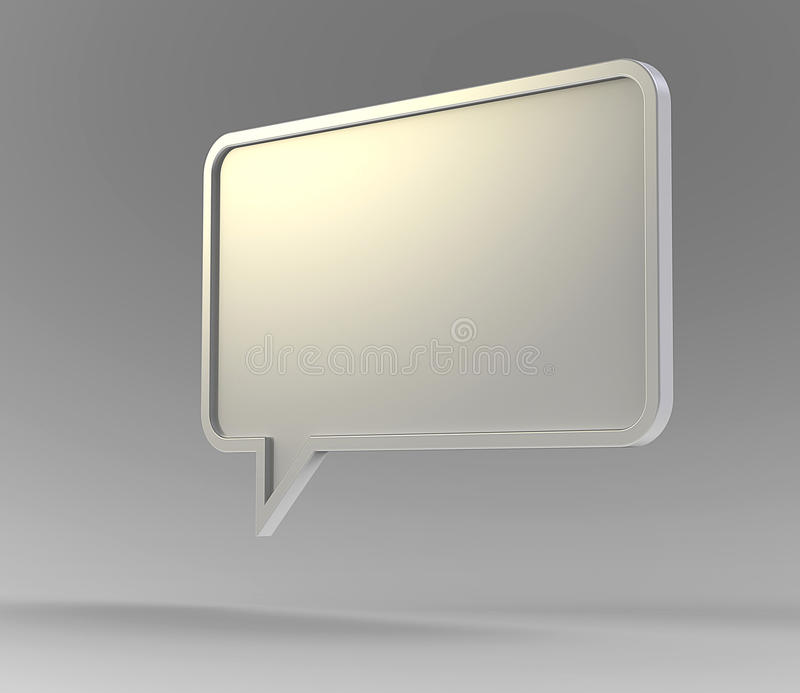 White 3d speech bubble royalty free illustration