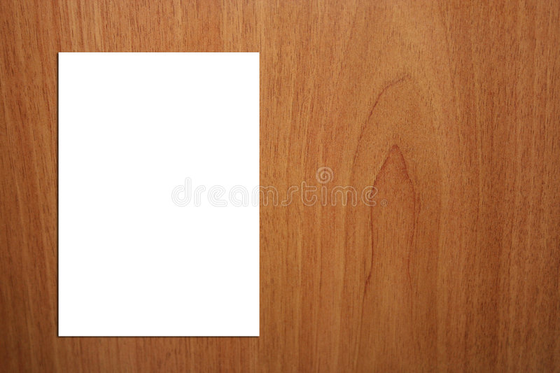 White A4 Page On Wood Background - Version 2 royalty free stock images