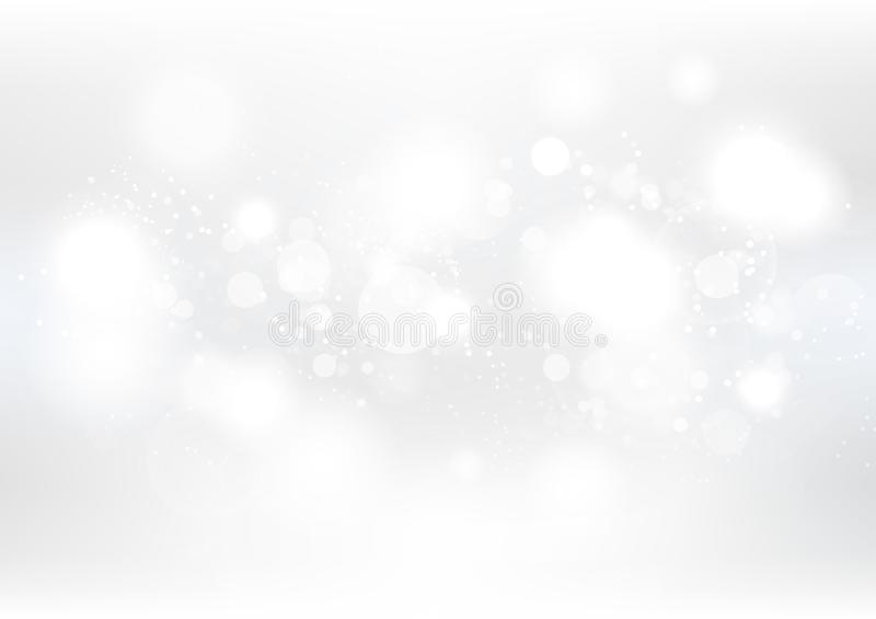White abstract background, Christmas and new year, winter, snow, seasonal holiday celebration vector illustration. White abstract background, Christmas and new stock illustration