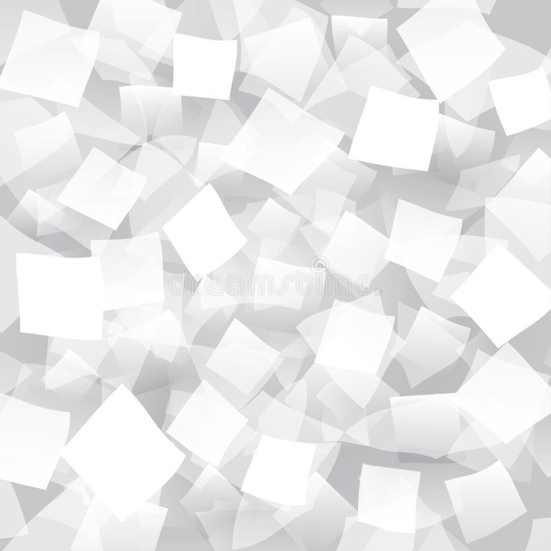 White Abstract Background With Geometrical Objects Stock