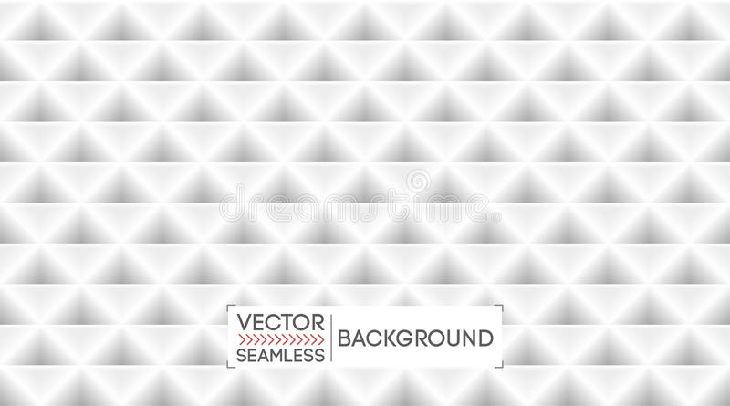 White abstract background pattern texture. Light seamless geometric triangles backdrop. Business banner, poster template .Vector. vector illustration