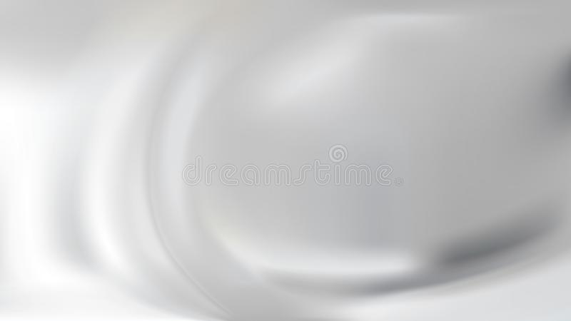 White abstract silver silk background. White abstract blurred background with effect of smooth flowing silver silk or satin, vector illustration. Realistic folds royalty free illustration