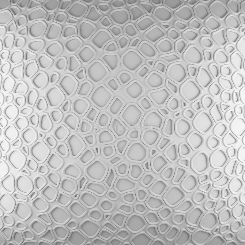 White abstract cells net backdrop. 3d rendering geometric polygons stock images