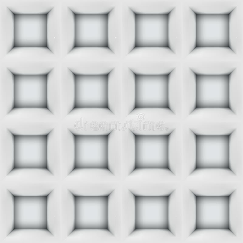 White abstract cubes 3D seamless pattern vector illustration