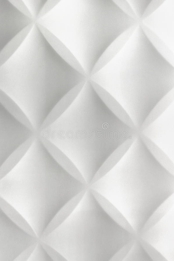 White Abstract 3D Modern Home Interior Polystyrene Tile Wall Background royalty free stock photography