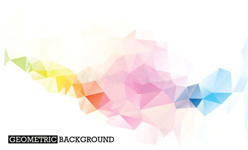 White abstract mosaic background with colourful lines stock image