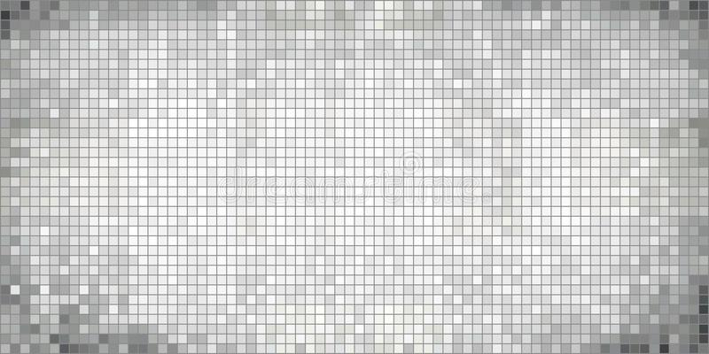 White abstract mosaic background vector illustration