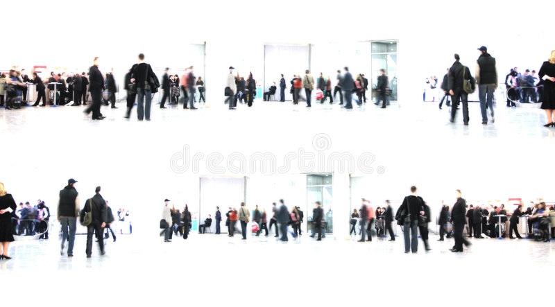 White abstract. people in hall royalty free stock photos