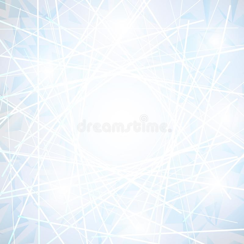 White Abstract polygonal space low poly background. With lines, Vector Illustration stock illustration