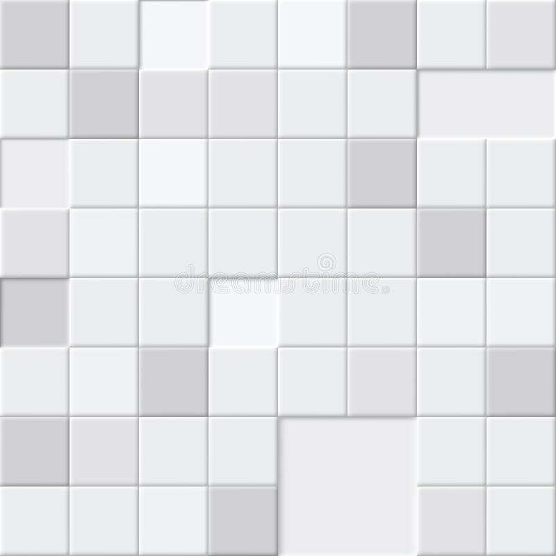 White Abstract Seamless Pattern, Bathroom Or Floor Tiles