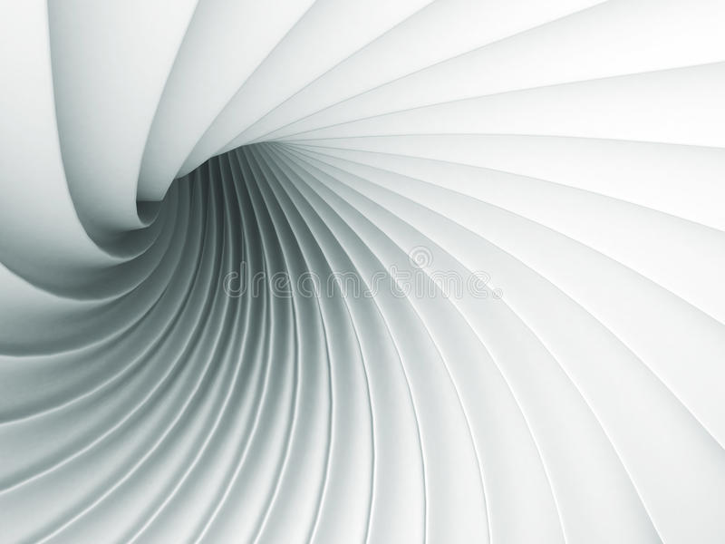 White Abstract Wave Spiral Geometric Background vector illustration