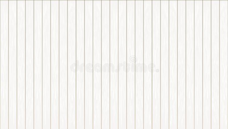 White Abstract Wood Plank Vertical Texture Background vector illustration