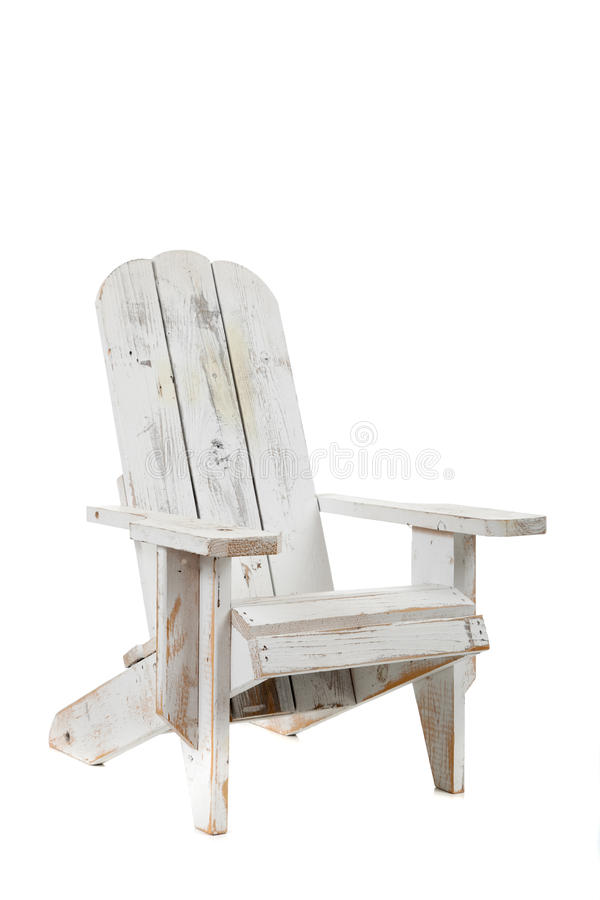 White Adirondack Chair On A White Background Stock Photography
