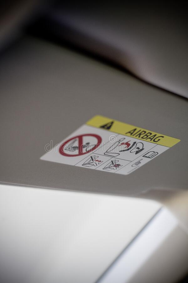 White Airbag Instruction Label Free Public Domain Cc0 Image