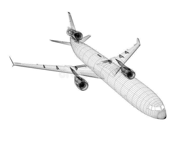 Download White Airliner stock illustration. Image of modern, airline - 28653063